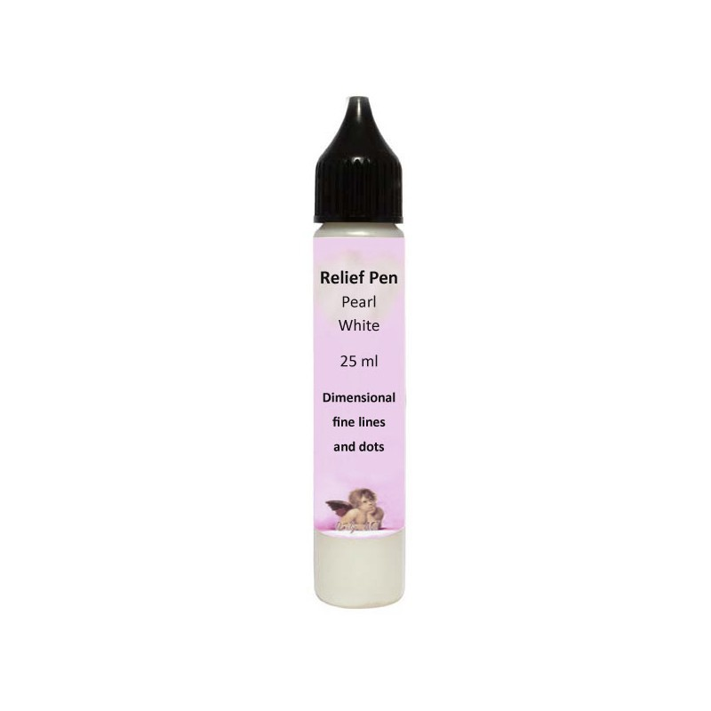 Reljefinis kontūras Perlamutrinis baltas (25 ml)