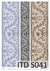 Dekupažinis popierius (Ornamentai)