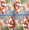Servetėlė Kalėdų senelis ir elnias