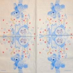 Servetėlė Meškiukas (mėlynas)