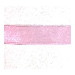 Organzos juostelė Rožinė (1 m)