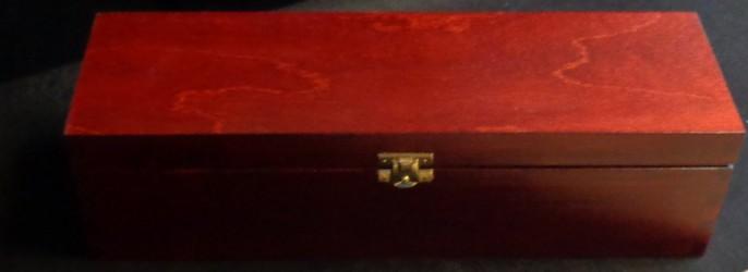 Dėžė vyno buteliui (raudonmedžio spalva)