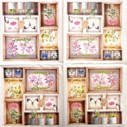 Servetėlė Gėlės lentynoje