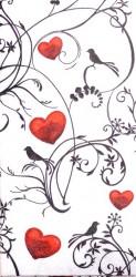 Popierinė nosinaitė Širdelės
