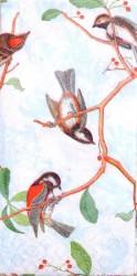 Popierinė nosinaitė Paukščiai