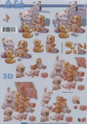 Popierius 3D dekupažui (žaislai)