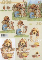 Paper for 3D decoupage (puppy)