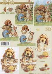 Popierius 3D dekupažui (šuniukas)