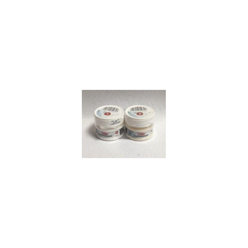 Dvikomponentė sendinimo priemonė skilinėjimui ant stiklo (2 x 25 ml)