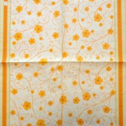 Servetėlė Gėlės (Oranžinės)