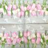 Servetėlė Tulpės su kaspinėliais