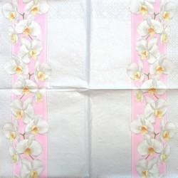 Servetėlė Orchidėjos (rožinė juostelė)