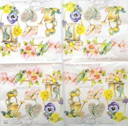 Servetėlė Gėlės ir paukščiukai