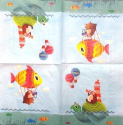 Servetėlė Žuvis ir vėžlys