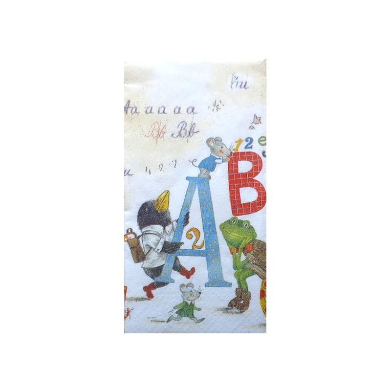 Popierinė nosinaitė ABC