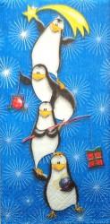 Popierinė nosinaitė Pingviniukai