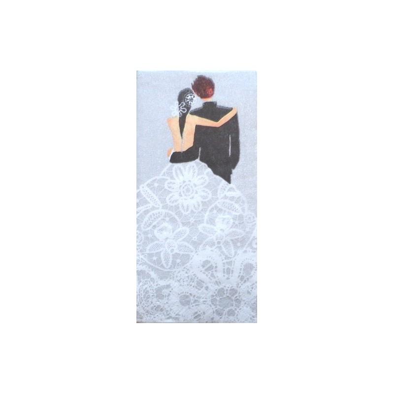 Popierinė nosinaitė Vestuvės (sidabrinė)