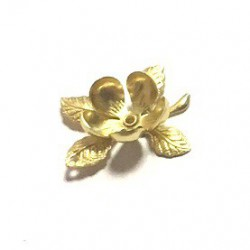 Gėlytė su lapeliais (auksinė)