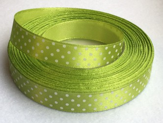 Ribbon Dotted Green
