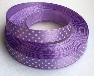 Ribbon dotted Purple (1 m)