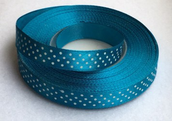 Ribbon dotted Blue (1 m)