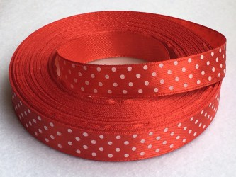 Ribbon dotted Red (1 m)