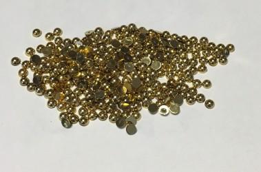 Pusiniai akriliniai perliukai - auksiniė (4 mm, 300 vnt)