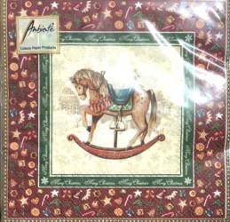 Napkins Rocking horse red