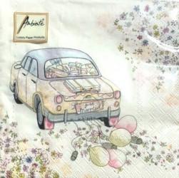 Servetėlių pakelis Vestuvių automobilis