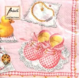 Servetėlių pakelis Batukai (rožiniai)