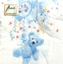 Napkins Teddy blue