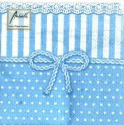 Napkins Bow blue