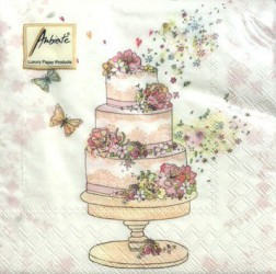 Napkins Flowered wedding cake