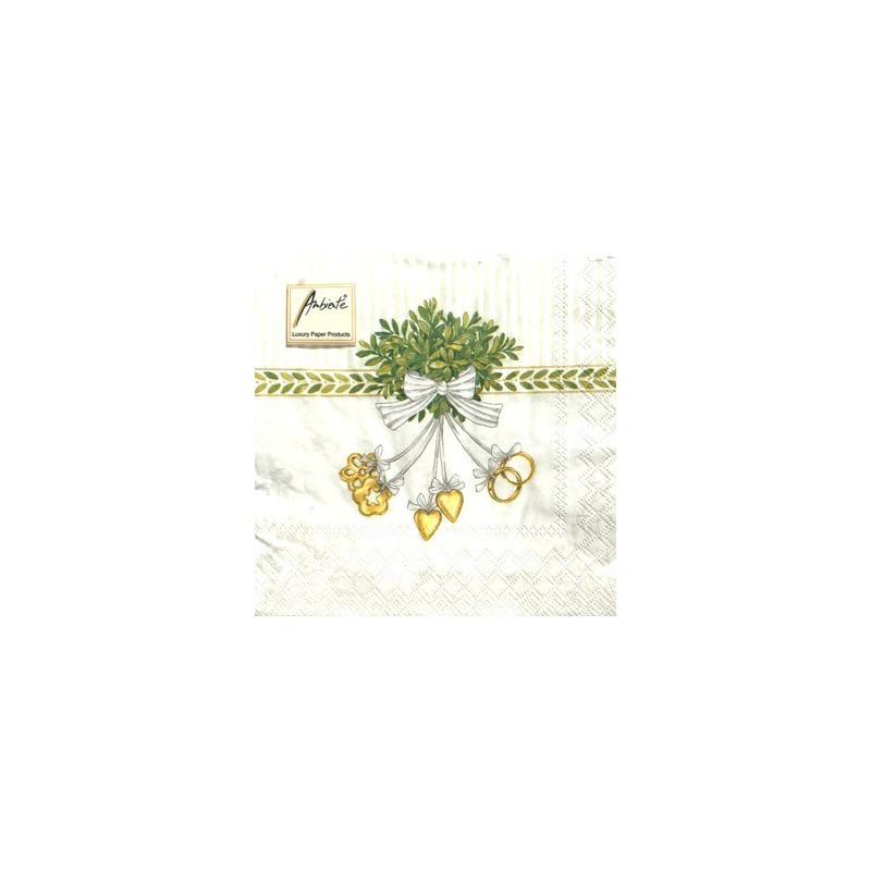 Servetėlių pakelis Vestuvių simboliai