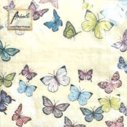 Napkins Butterfly cream
