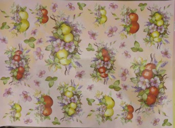 Decoupage paper apples (EASY 211)