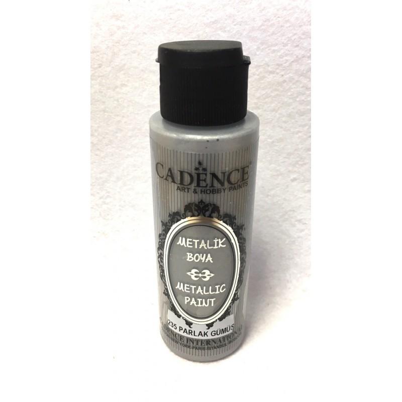 Perlamutriniai dažai 70 ml (metallic paint) Sidabras