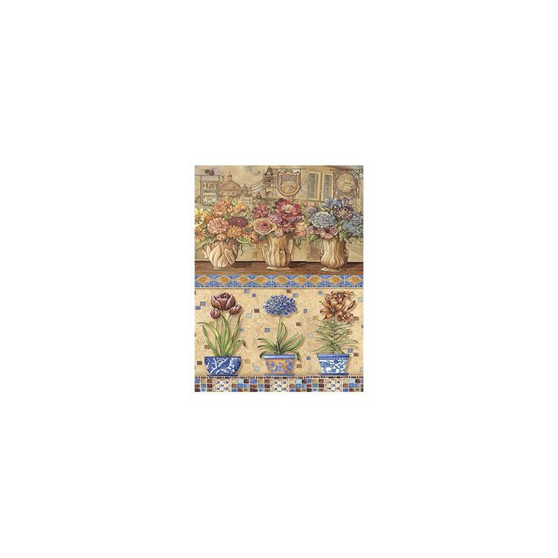 Ryžinis popierius Hortenzijos