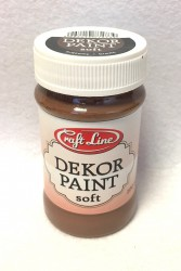 Decor paint soft 100 ml Brown