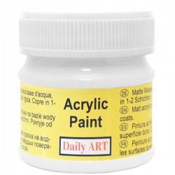 Matiniai akriliniai dažai balta (50 ml)