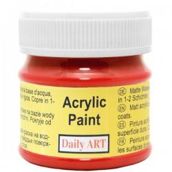 Matiniai akriliniai dažai Skaisčiai raudona (50 ml)
