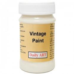 Kreidiniai akriliniai vintažiniai dažai Pieno balta (100 ml)