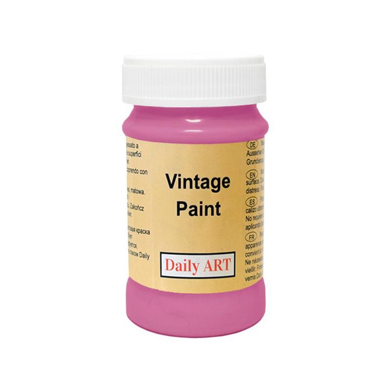 Kreidiniai akriliniai vintažiniai dažai Tamsiai rožinė (100 ml)