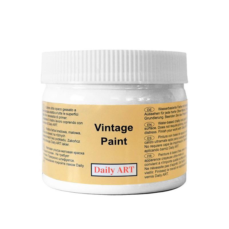 Kreidiniai akriliniai vintažiniai dažai Sniego balta (300 ml)
