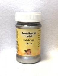 Metalizuoti dažai Sidabrinė (100 ml)