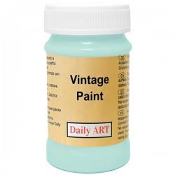 Kreidiniai akriliniai vintažiniai dažai Žalsvai mėlyna (100 ml)