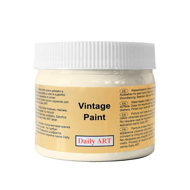 Kreidiniai akriliniai vintažiniai dažai Kreminė (300 ml)