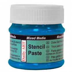 Stencil paste Pearl blue (50 ml)