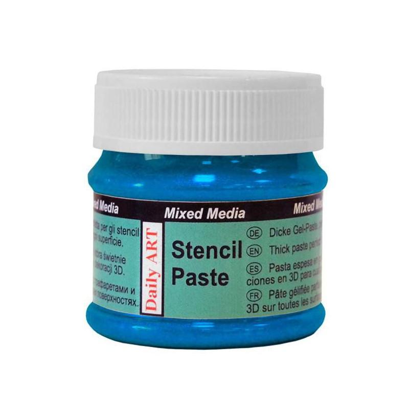 Pasta trafaretams Perlamutriniai mėlyni (50 ml)
