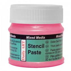 Pasta trafaretams Perlamutriniai rožinė (50 ml)